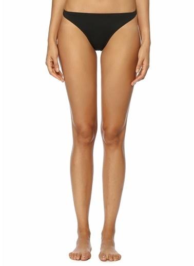 Solid & Striped Bikini Alt Siyah